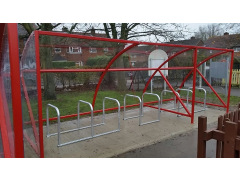 BDS Cycle Shelter - 16 Space Cycle Shelter & Bike Stands